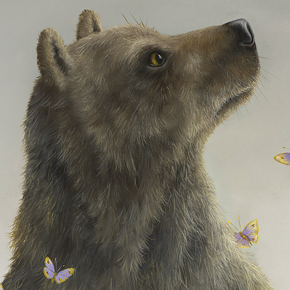 Detail Photo of Hero (Ursus ll) Painting by Robert Bissell