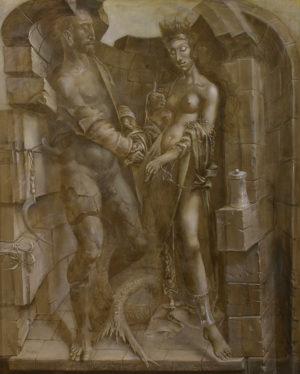 An artwork of Hans-Peter Müller, called Mariage Madeleine I
