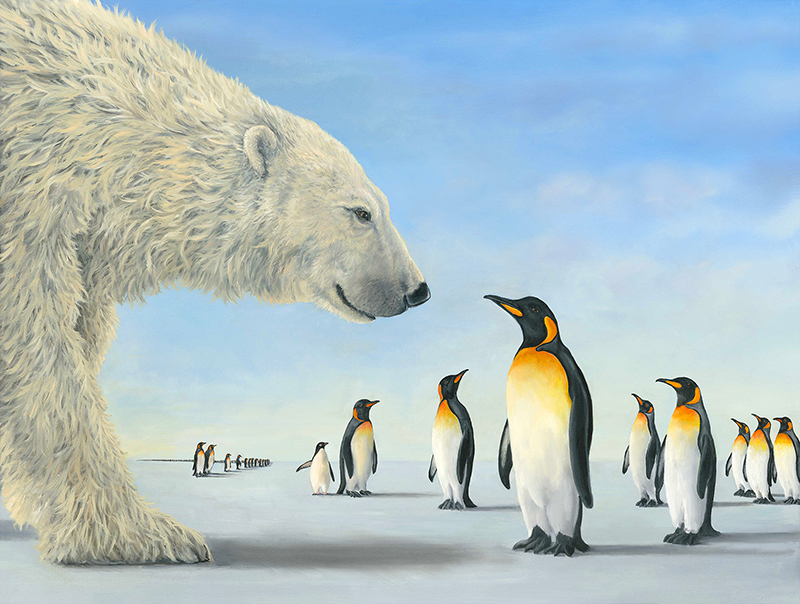 Meeting on the Ice, an artwork of Robert Bissel