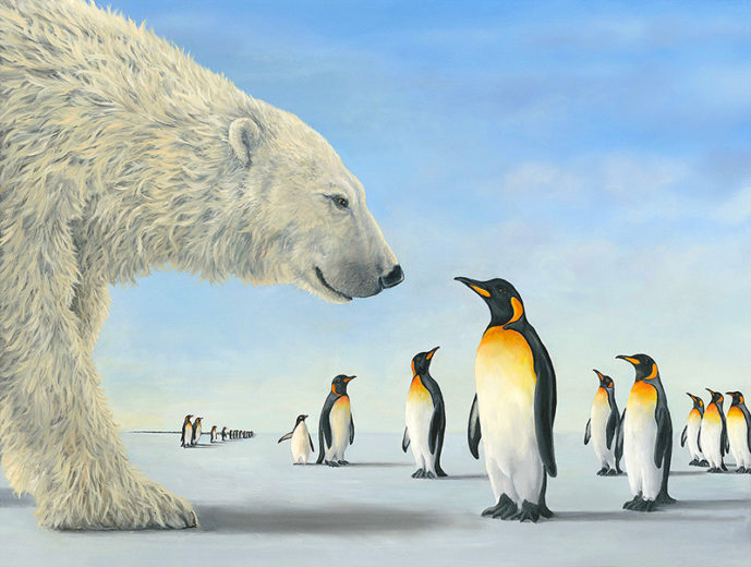 An artwork from Robert Bissell, called Meeting on the Ices