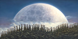 An artwork from Robert Bissell, called Moonwalkers