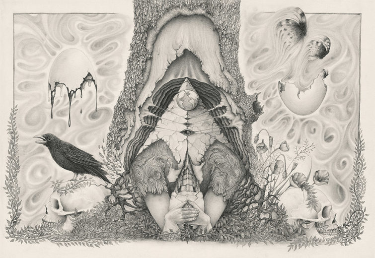 An artwork from Marcel Bakker, called Mother Nature