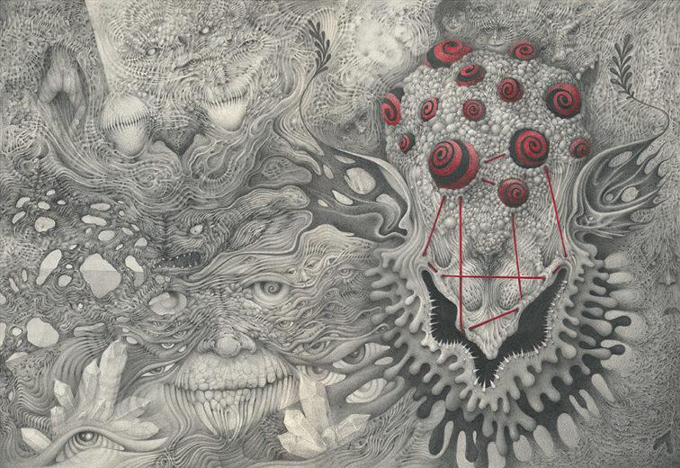 An artwork from Marcel Bakker, called Psychonaut