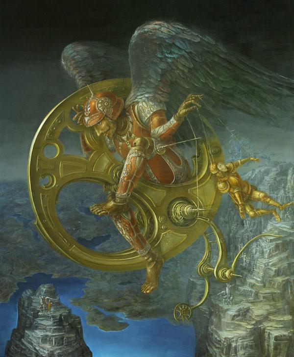 An artwork of A. Müller-Jontschewa, called Reincarnation