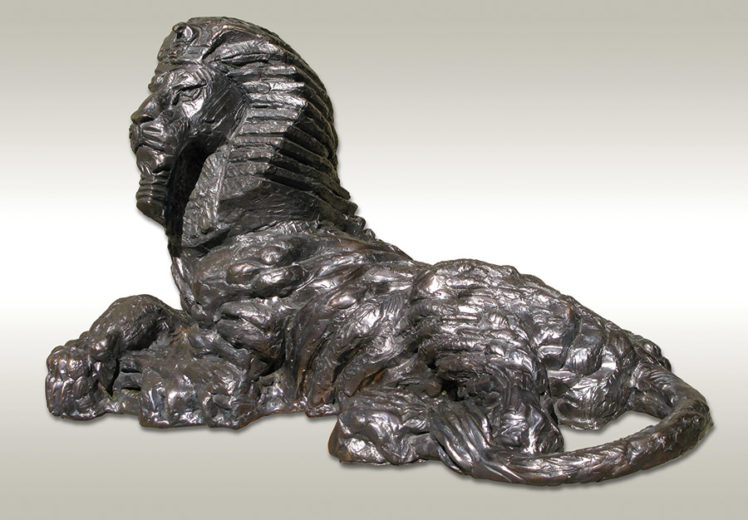A bronze sculpture of Igor Grechanyk, called Sphinx
