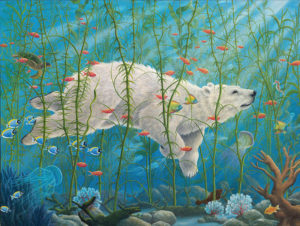 An artwork from Robert Bissell, called The Buffalos