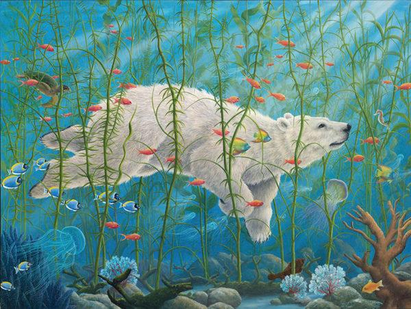 An artwork from Robert Bissell, called The Buffalos