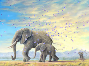 An artwork from Robert Bissell, called The Journeys