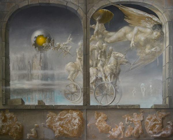 An artwork of Hans-Peter Müller, called Transport nach Gallien