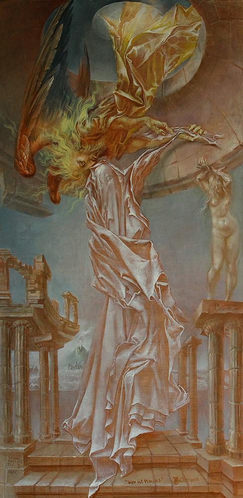 An artwork of Hans-Peter Müller, called Wer ist Maria