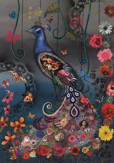 Peacock an artwork of Jacqueline Nieuwendijkieuwendijk