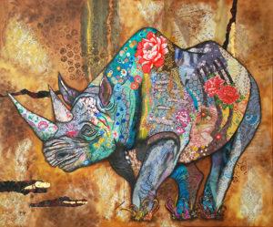 Rhino an artwork of Jacqueline NieuwendijkNieuwendijk