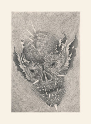 A Limited Edition paper print of Skull