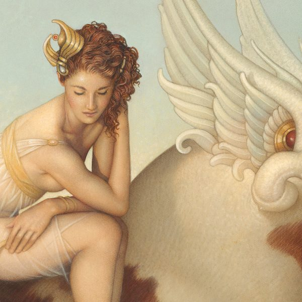 Detail of Michael Parkes Giclee Europa