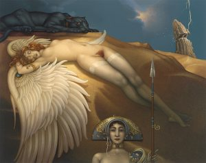 Canvas Giclee of Michael Parkes Fallen Angel