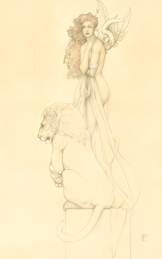 Giclee of Michael Parkes, Last Lion