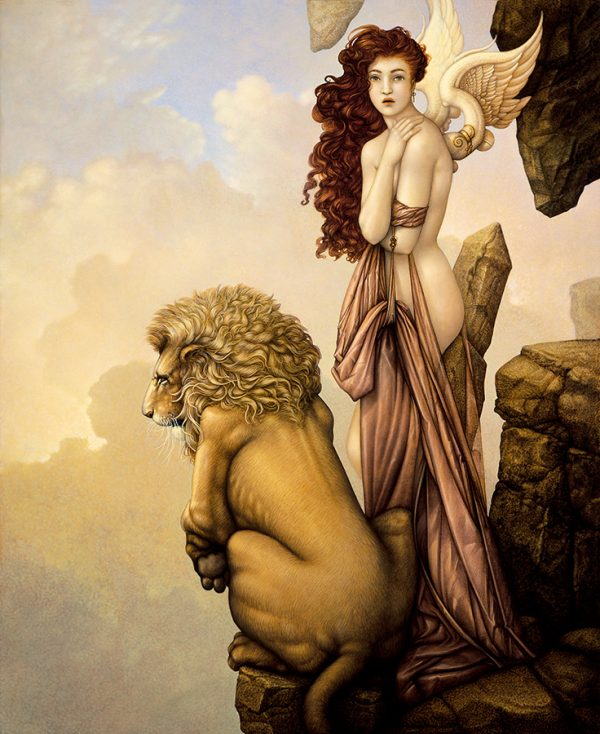 Canvas Giclee of Michael Parkes The Last Lion