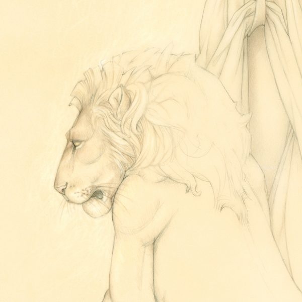 Detail of Michael Parkes Last Lion
