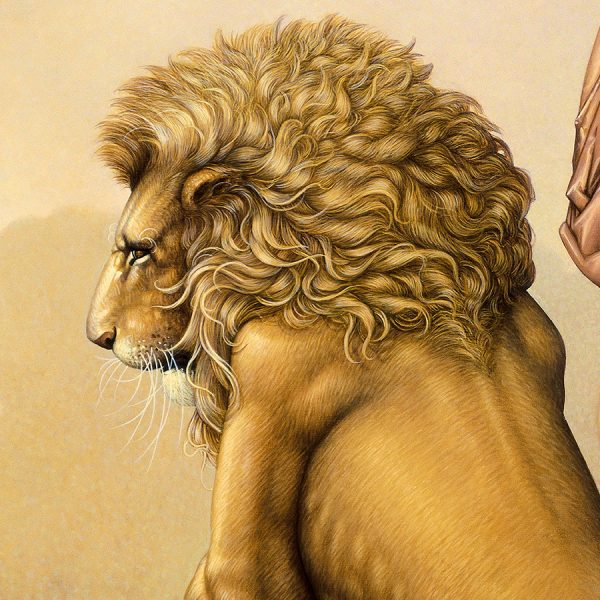 Detail of Michael Parkes Giclee The Last Lion