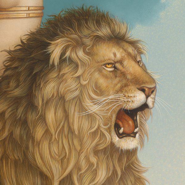 Detail of Michael Parkes Giclee Lion's Return