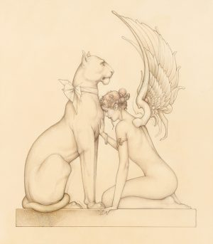 Giclee of Michael Parkes Meditation
