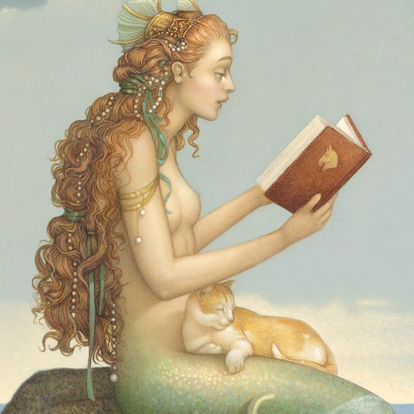 Detail of Michael Parkes Giclee Mermaid Secret Deluxe