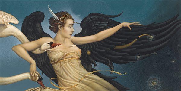 Canvas Giclee of Michael Parkes Nightfall