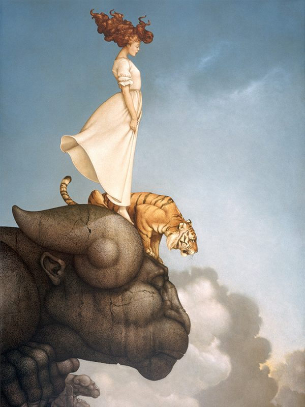 Sky Meditation a canvas giclee of Michael Parkes