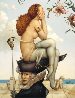 Canvas Giclee of Michael Parkes Summer and Winter