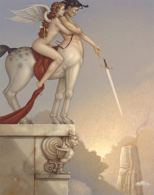 Canvas Giclee of Michael Parkes The Centaur