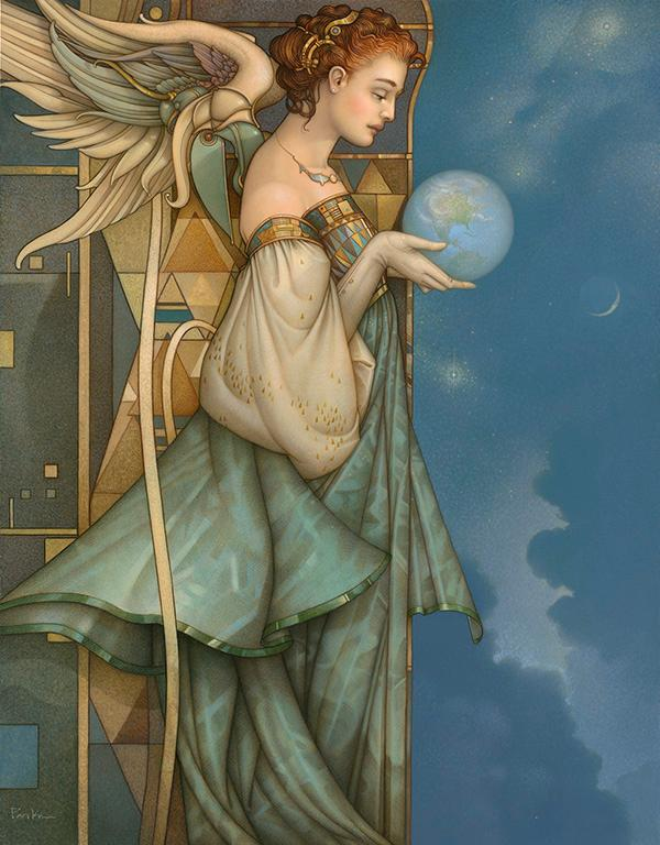 Giclee of Michael Parkes the Guardian