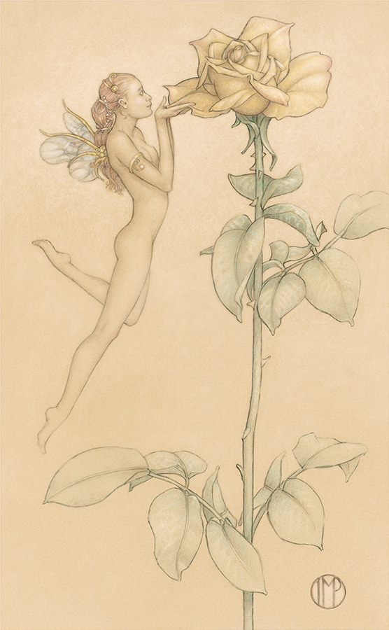 Masterwork on Vellum of Michael Parkes called The Rose