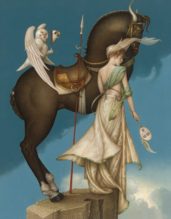 Canvas Giclee of Michael Parkes The Summit