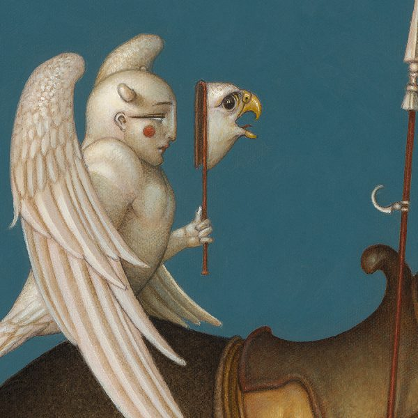 Detail of Michael Parkes Giclee The Summit
