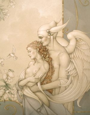 Paper Giclee of Michael Parkes There Must Be An Angel