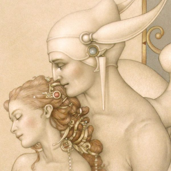 Detail of Michael Parkes Giclee There Must Be An Angel