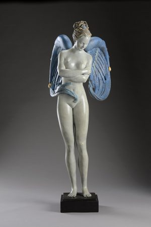 A sculpture of Michael Parkes called Angel CUSTOM PATINA