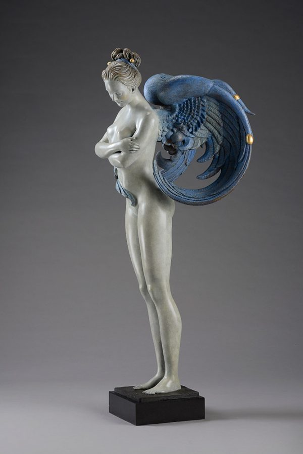 A sculpture of Michael Parkes called Angel CUSTOM PATINA (Right)