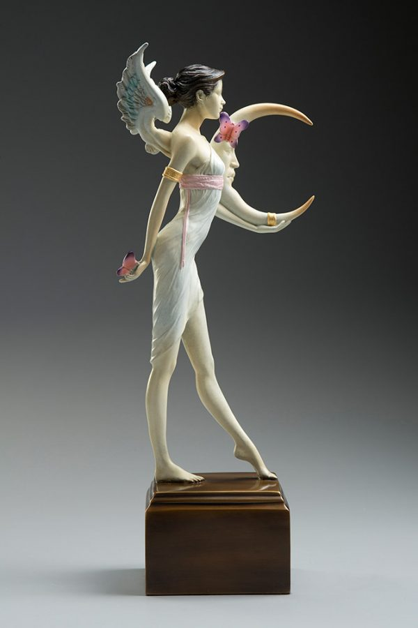 A sculpture of Michael Parkes called Butterfly Moon (Left)