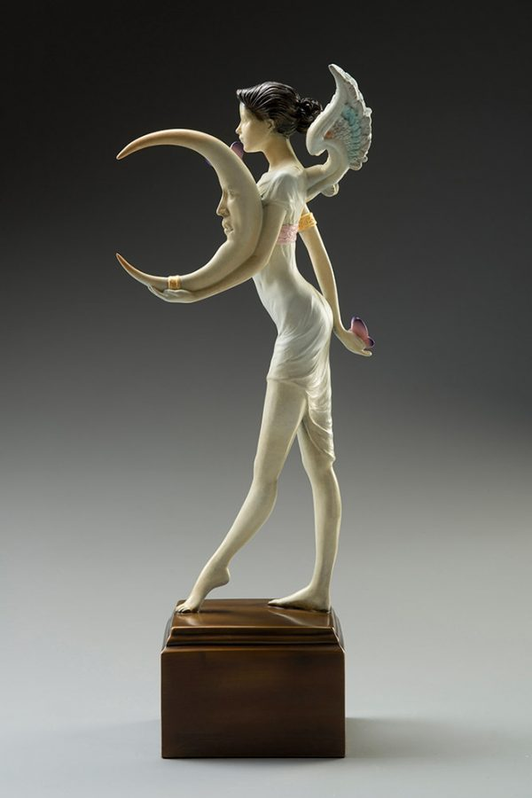 A sculpture of Michael Parkes called Butterfly Moon (Right)
