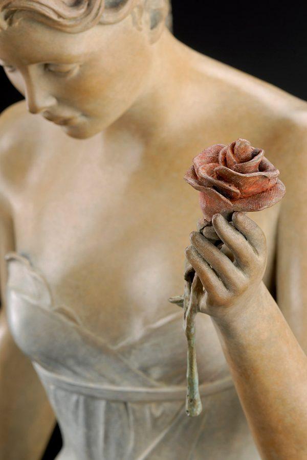 A sculpture of Michael Parkes called Decending (Close-up)