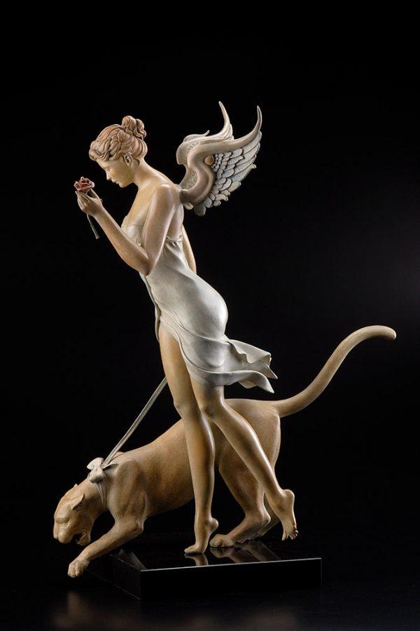 A sculpture of Michael Parkes called Decending (Right)