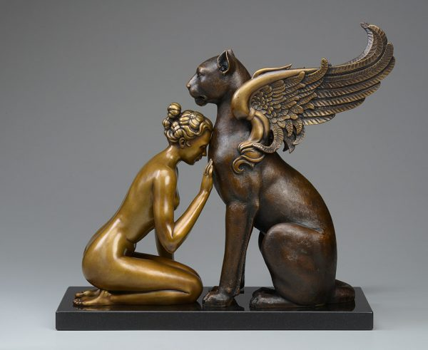A sculpture of Michael Parkes called Meditation (Right)