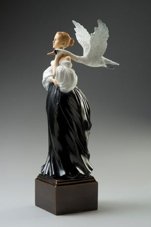 A sculpture of Michael Parkes called Pale Swan