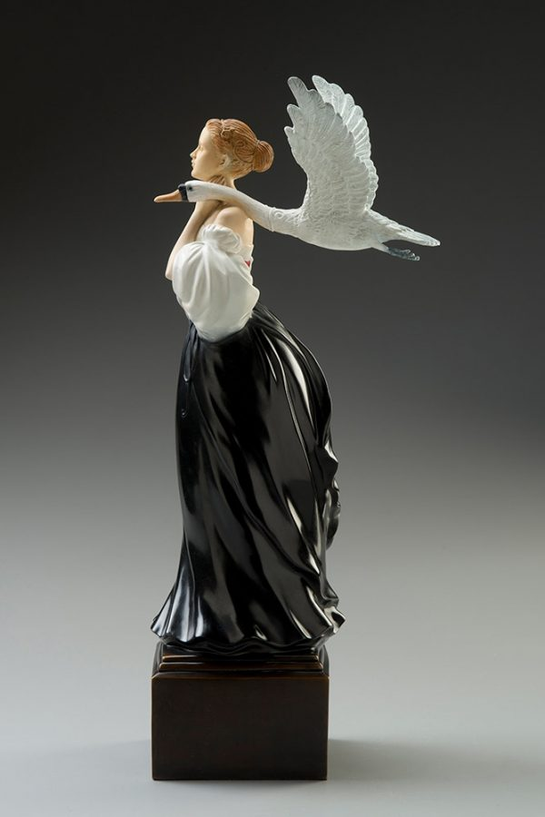 A sculpture of Michael Parkes called Pale Swan (Right)