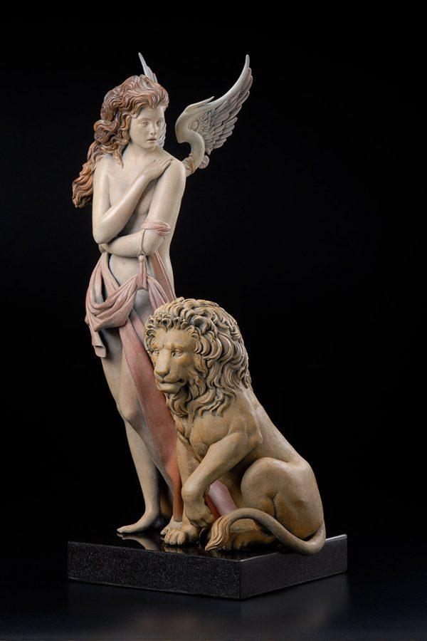 A sculpture of Michael Parkes called The Last Lion