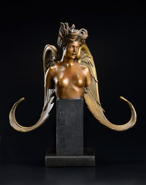 A sculpture of Michael Parkes called The Muse (Front)