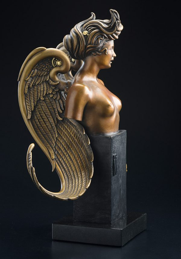 A sculpture of Michael Parkes called The Muse (Left)