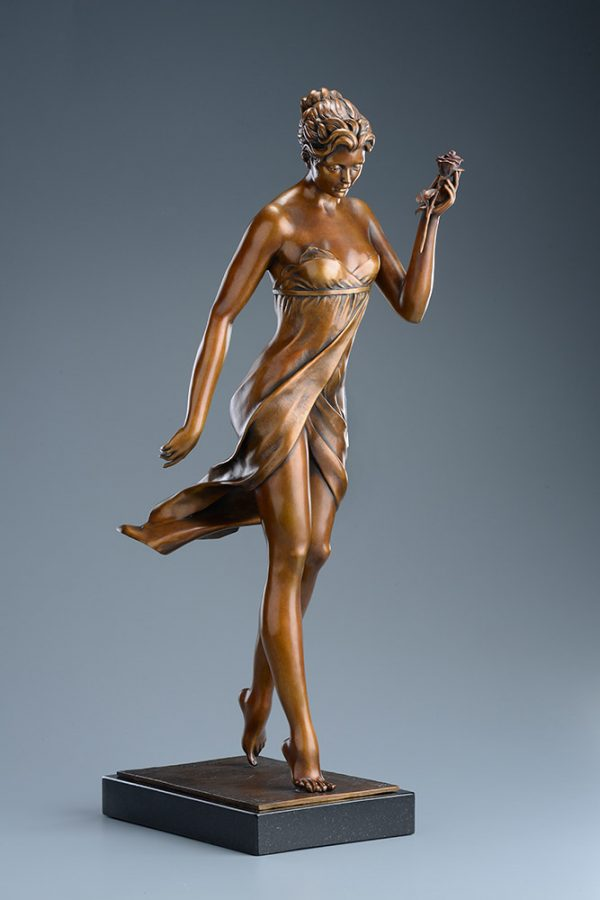 A sculpture of Michael Parkes called The Rose (Left)