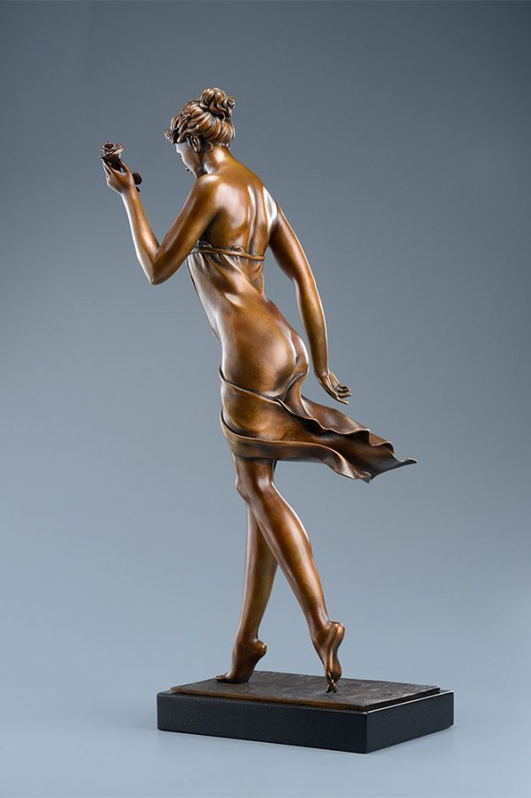 A sculpture of Michael Parkes called The Rose (Rear)